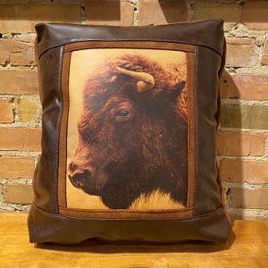 Buffalo Leather Pillow