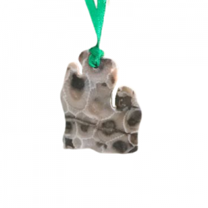 Lower Peninsula Petoskey Stone Ornaments