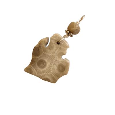 Michigan Petoskey Stone Charm - B