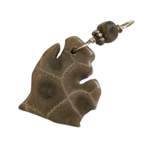 Michigan Petoskey Stone Charm - D
