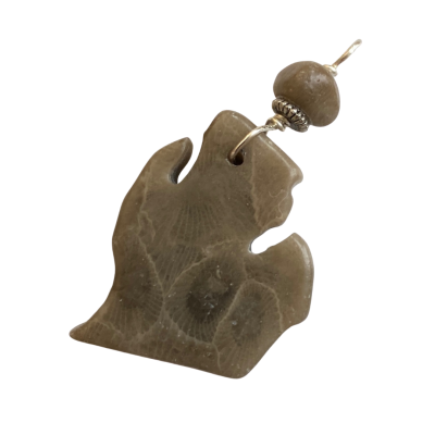 Michigan Petoskey Stone Charm - F