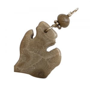 Michigan Petoskey Stone Charm - E