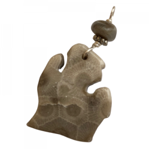 Michigan Petoskey Stone Charm - I