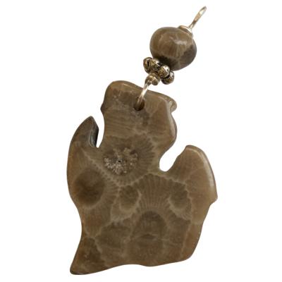 Michigan Petoskey Stone Charm - H