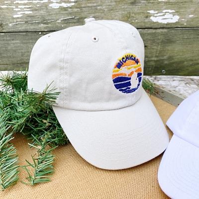 Embroidered Michigan Cap
