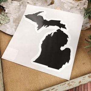 Black Michigan Car Decal