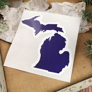 Blue Michigan Car Decal