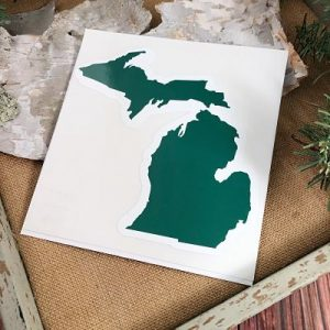 Green Michigan Car Decal