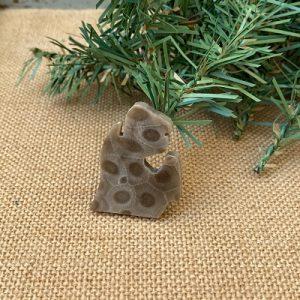 Small Lower Peninsula Petoskey Stone Magnet - F