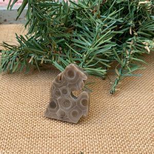 Small Lower Peninsula Petoskey Stone Magnet - K