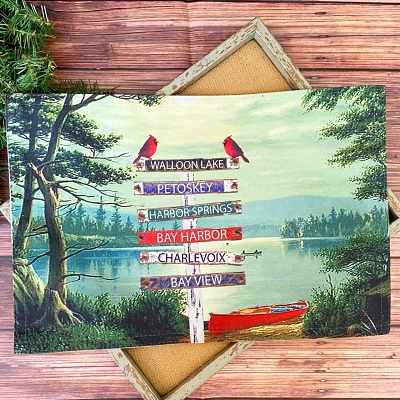 Northern Michigan Fabric Placemats