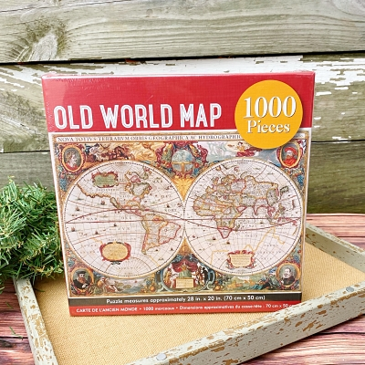 Old World Map Puzzle
