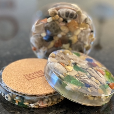 Petoskey Stone Treasure Coasters