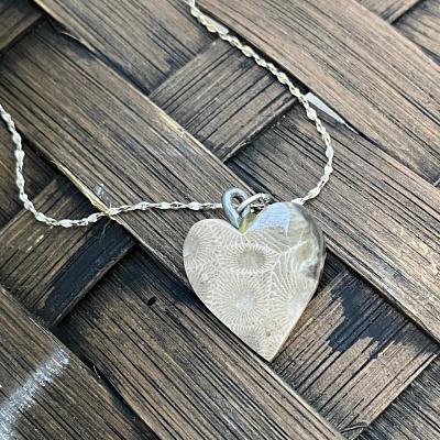Heart Petoskey Stone Necklace