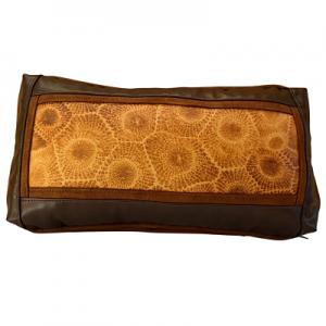 Petoskey Stone Leather Pillow