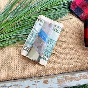 Petoskey Stone and Leland Blue Money Clip - A