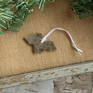 Upper Peninsula Petoskey Stone Ornament E