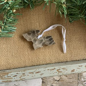 Upper Peninsula Petoskey Stone Ornament G