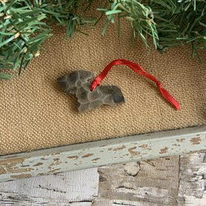 Upper Peninsula Petoskey Stone Ornament I