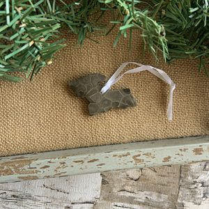 Upper Peninsula Petoskey Stone Ornament J