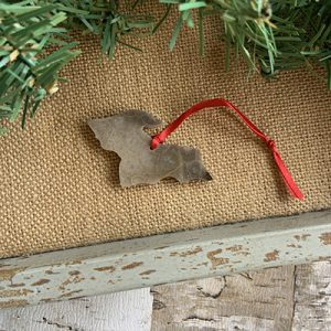 Upper Peninsula Petoskey Stone Ornament L