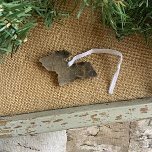 Upper Peninsula Petoskey Stone Ornament Q