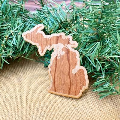 Wooden Michigan Sticker