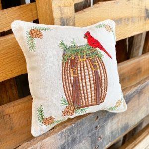 Balsam Fir Pillow - Bird and Basket