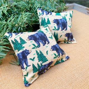Balsam Fir Pillow - Black Bears