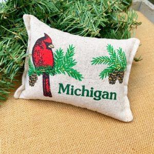 Balsam Fir Pillow - Michigan Cardinal