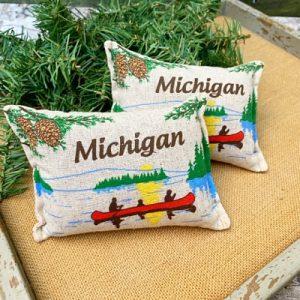 Balsam Fir Pillow - Michigan Boat