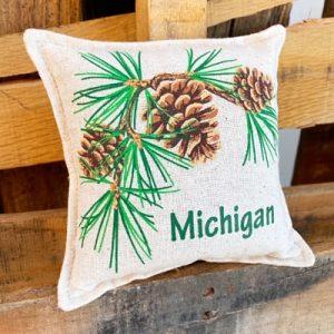 Balsam Fir Pillow - Michigan Cone & Tassle