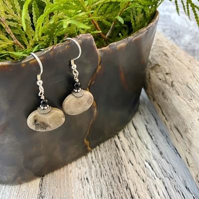Petoskey Stone Drop Earrings C