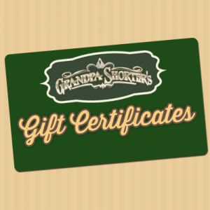Gift Certificate for use in-store at Grandpa Shorter's Gifts
