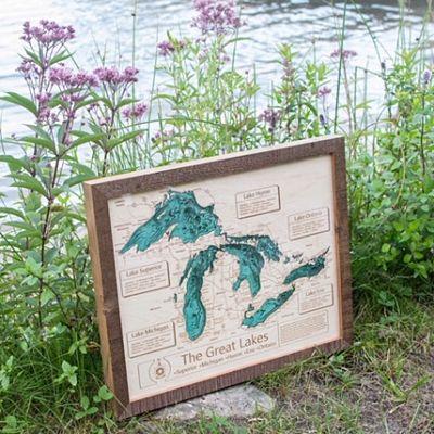 The Great Lakes 3-D Lake Art
