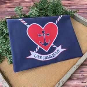 Lake Charlevoix Zipper Bag