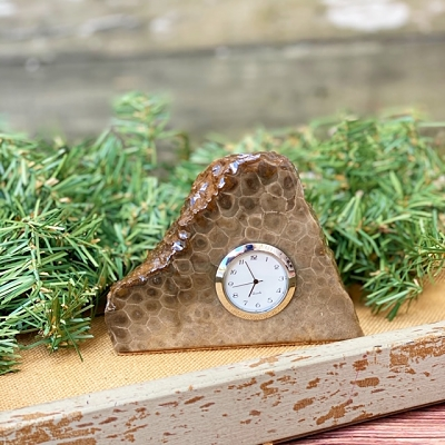 Petoskey Stone Clock - J