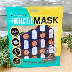 Breathable Protective Face Mask - Milk and Cookies