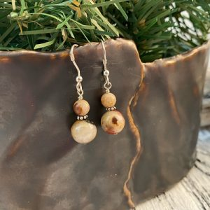 Pudding Stone Earrings A