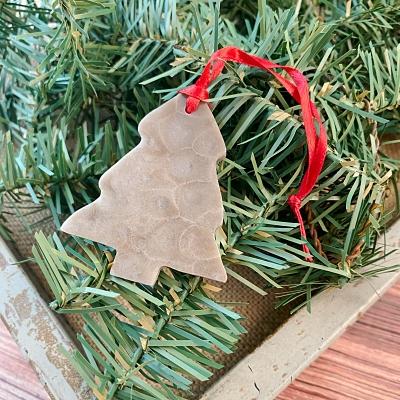 Tree Petoskey Stone Ornament D